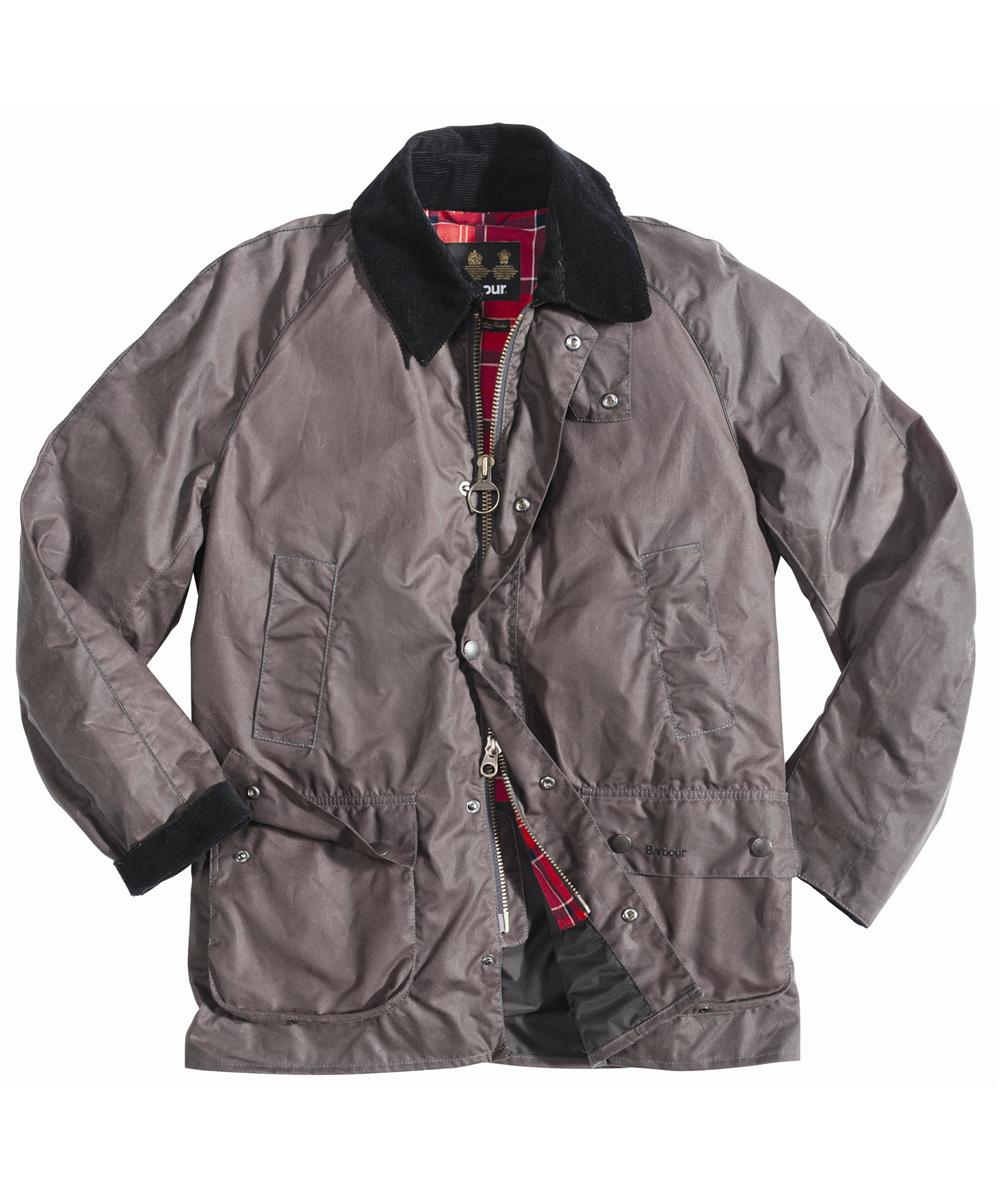 Mens Barbour Ashby Waxed Jacket - Charcoal