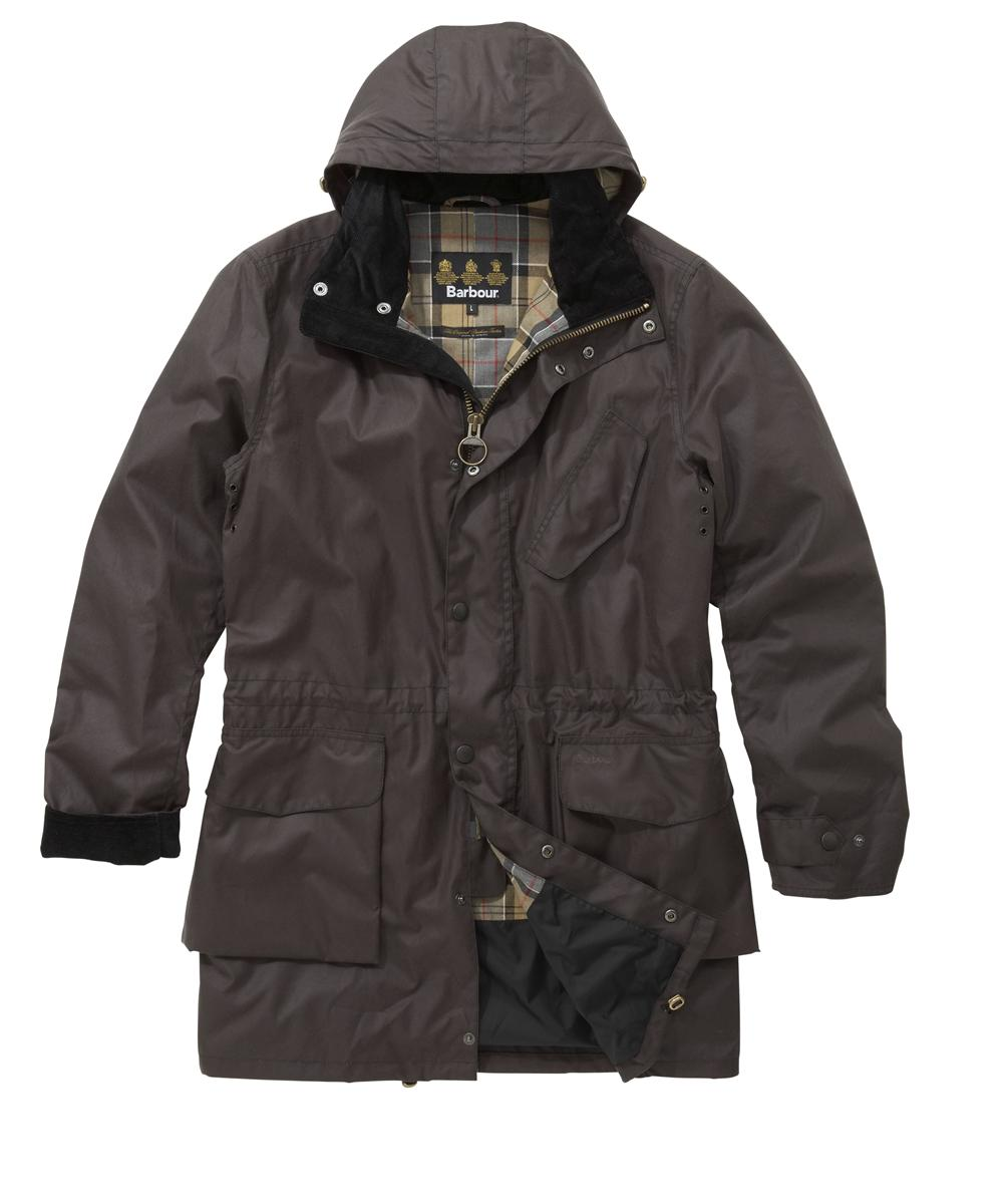 Mens Barbour Foreland Waxed Jacket - Charcoal