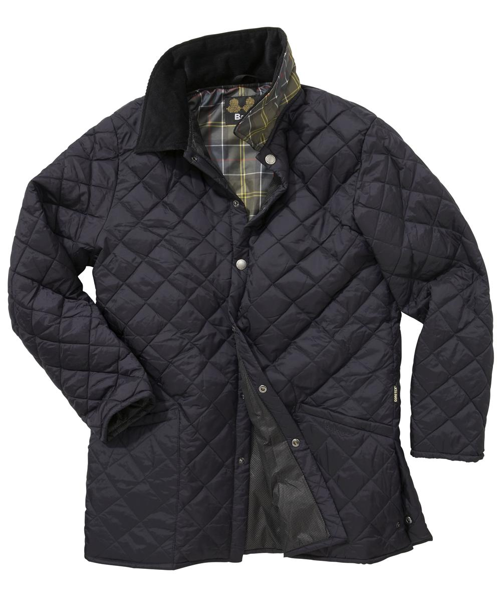 Mens Barbour Drigg Quilted Jacket - Navy