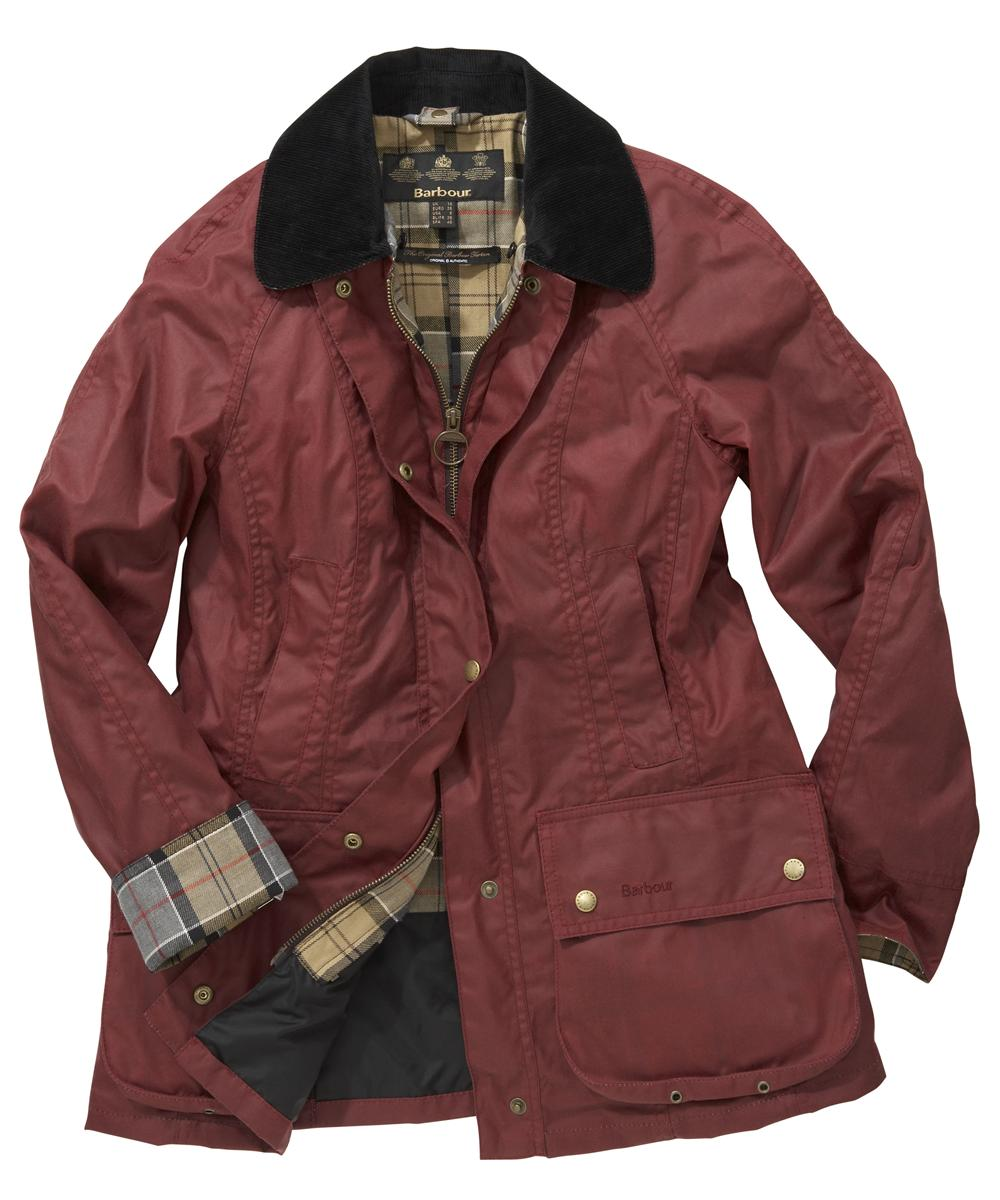 Barbour Classic Beadnell Jacket Dark Red