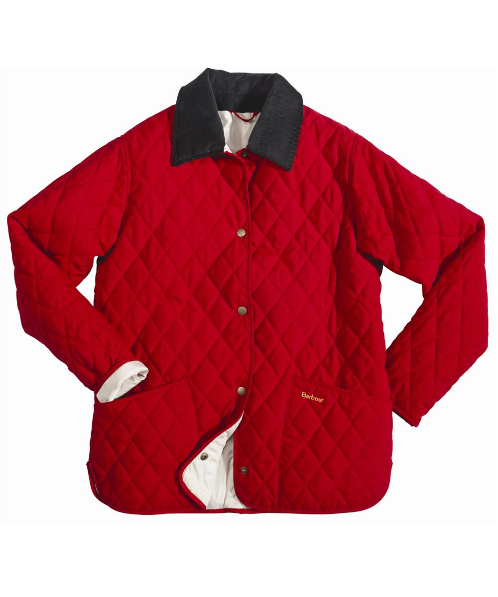 Barbour Eskdale Quilted Jacket Red | Pearl
