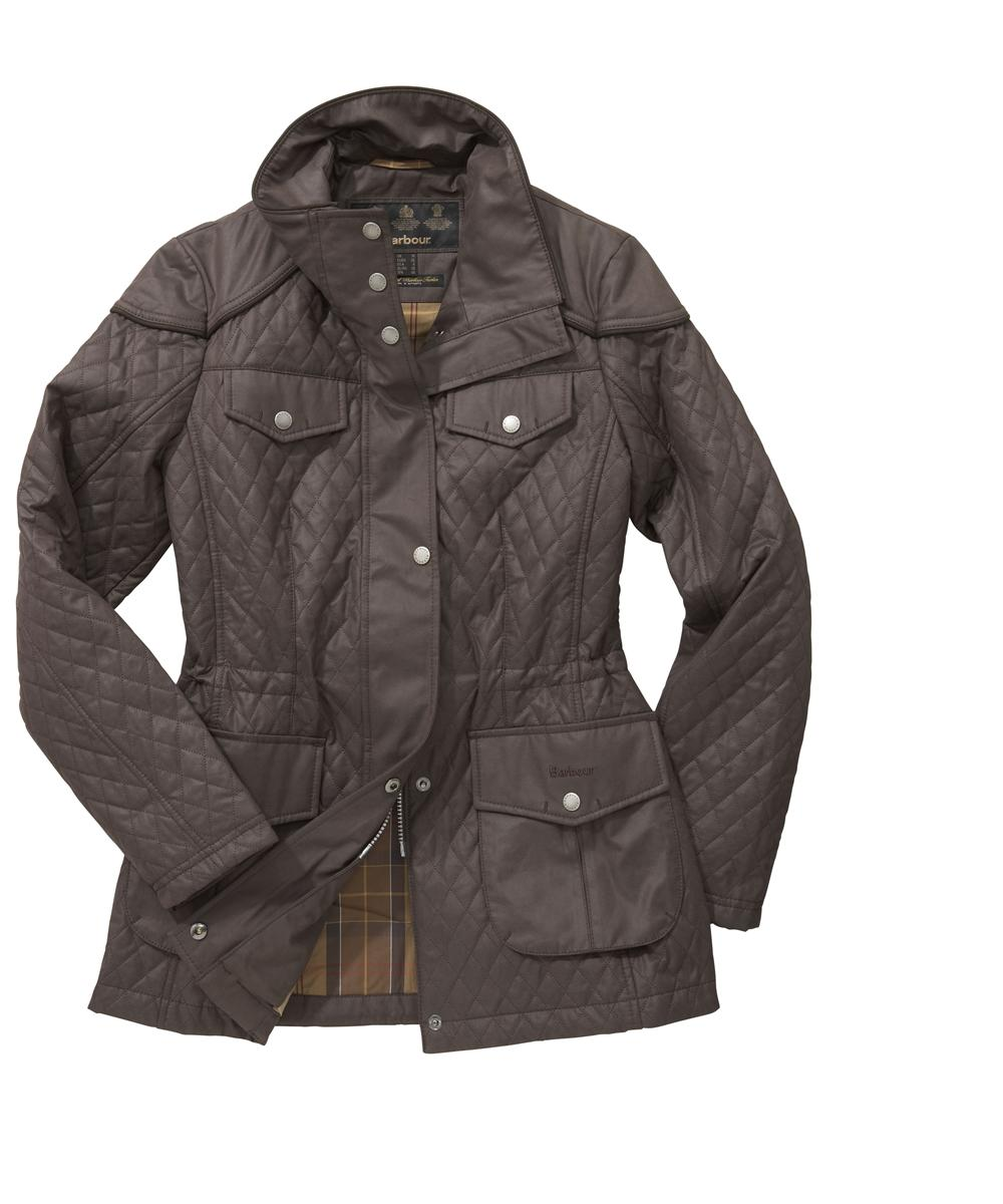Womens Barbour Charlize Quilted Jacket Brown