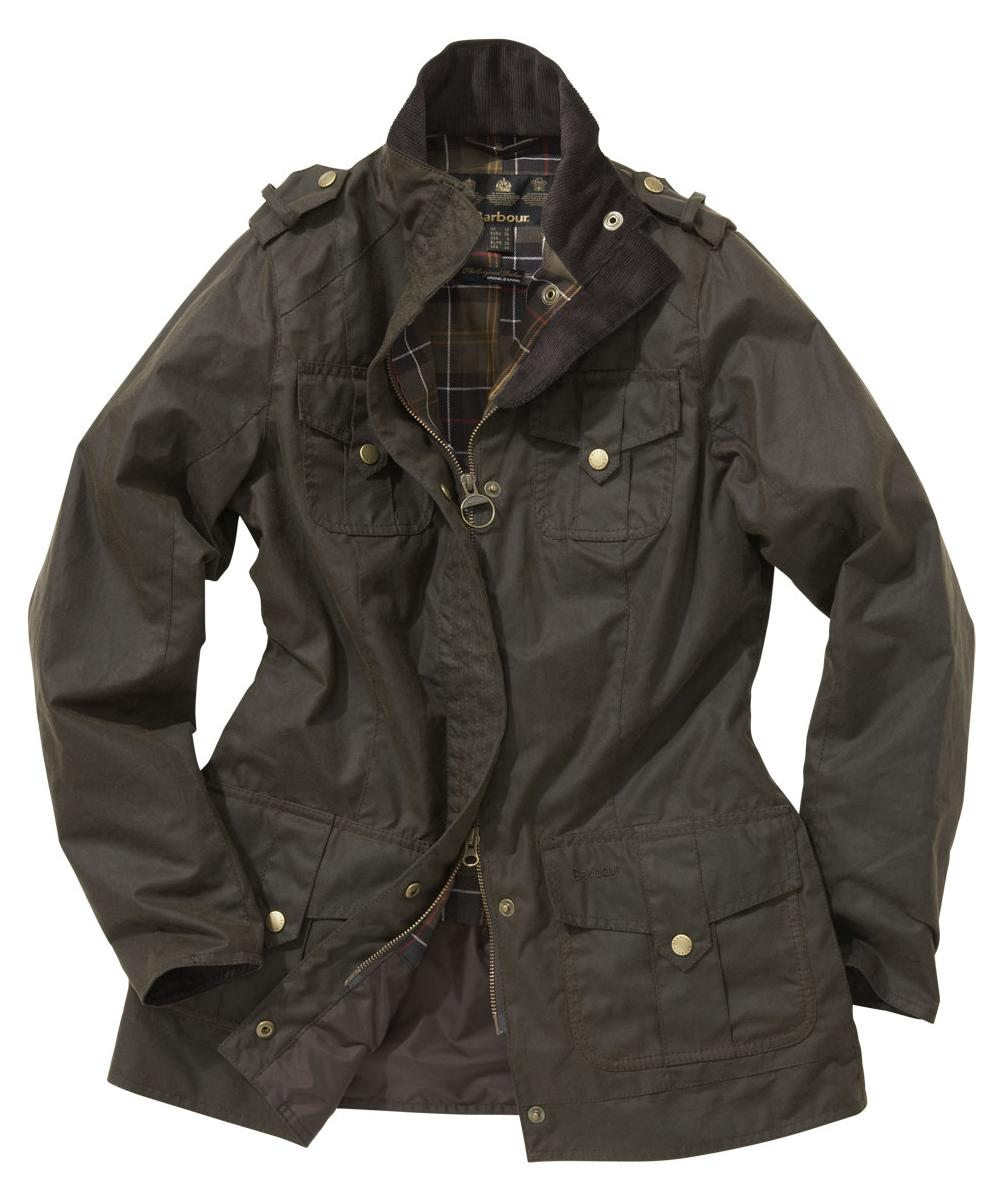 Barbour Ladies Defence Jacket Olive | Classic Tartan