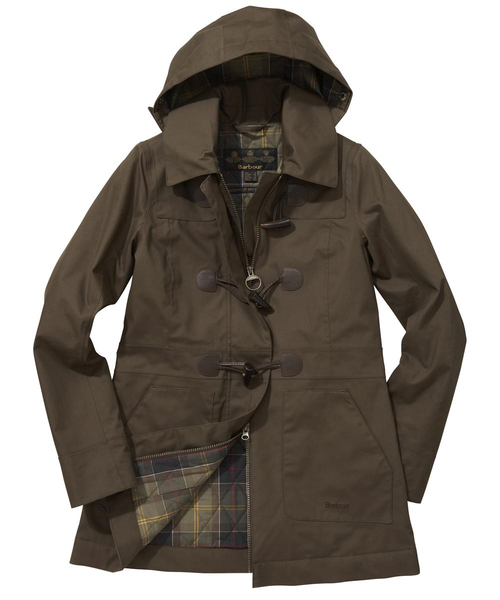 Womens Barbour Buttermere Duffle Coat - Olive