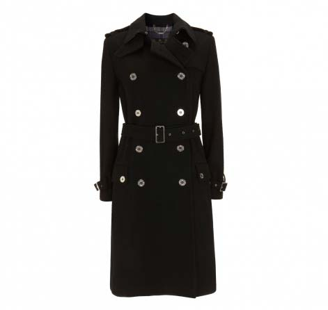 Barbour Honour Trench Coat Black