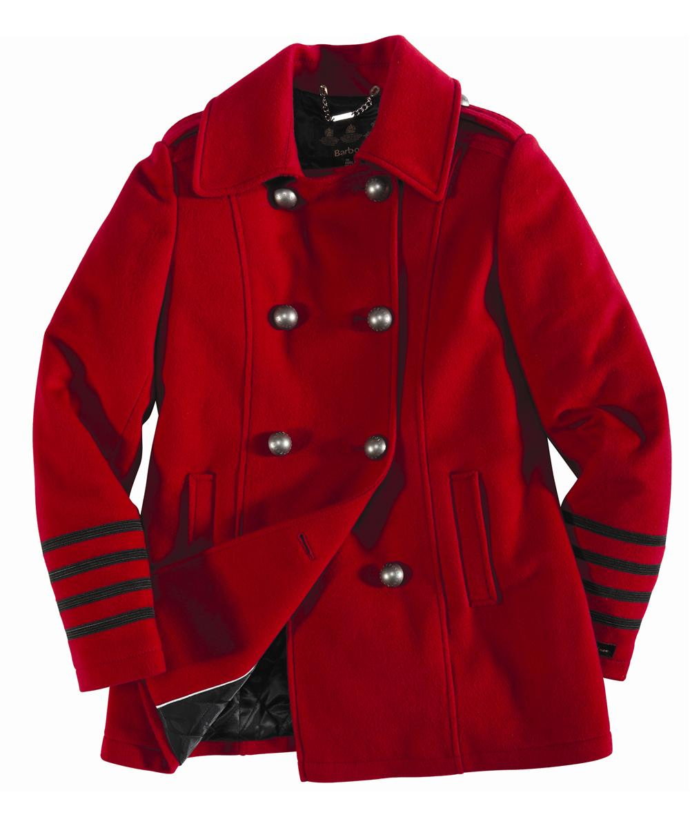 Barbour Barracks Jacket Red