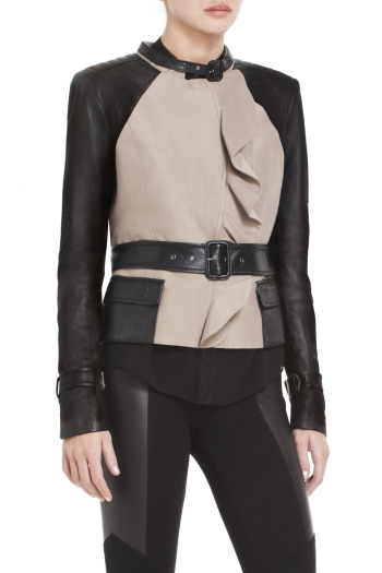 BCBGMAXAZRIA TUCKER LEATHER JACKET
