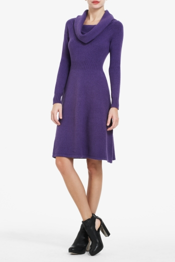 BCBGMAXAZRIA NELLIE COWL-NECK DRESS
