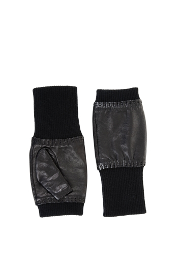 BCBGMAXAZRIA FINGERLESS LEATHER GLOVE