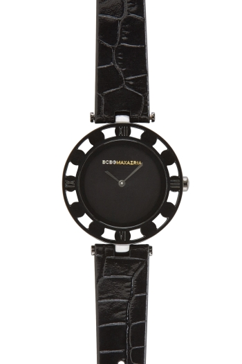 BCBGMAXAZRIA FLORENCE LEATHER-BAND WATCH