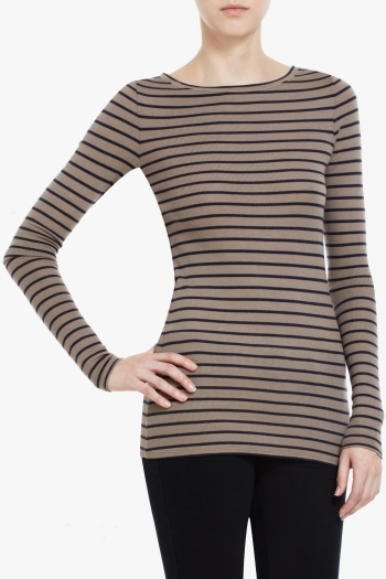 BCBGMAXAZRIA CHARLOTTE STRIPED TOP