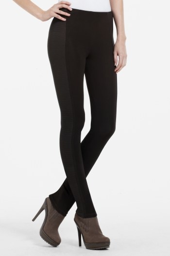 BCBGMAXAZRIA MACAULAY TEXTURED-PANEL LEGGING