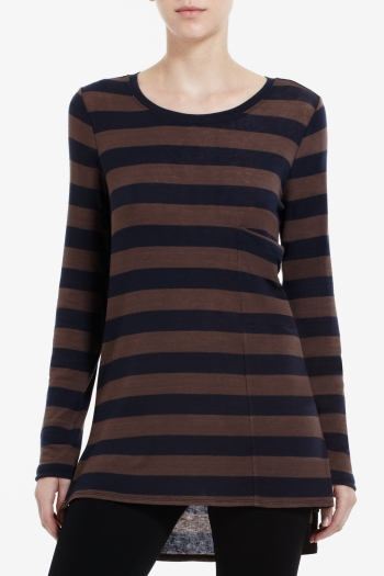 BCBGMAXAZRIA CHARITY BOATNECK TOP