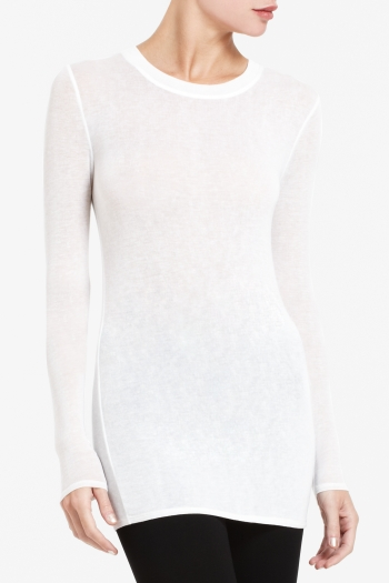 BCBGMAXAZRIA AGDA SCULPTED JERSEY LONG-SLEEVE TEE