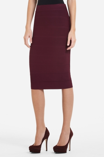 BCBGMAXAZRIA HIGH-WAIST POWER SKIRT