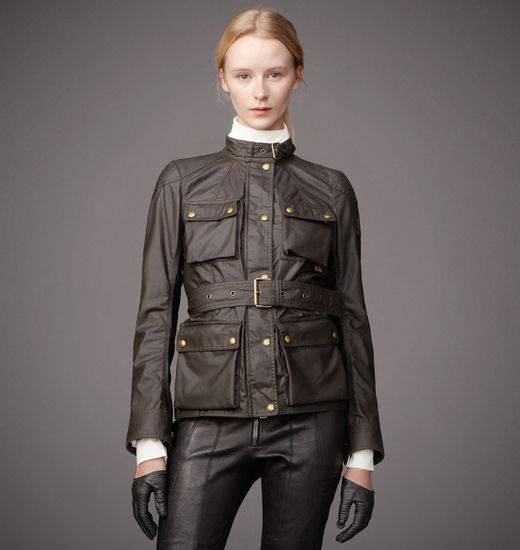 BELSTAFF WOMEN THE ROADMASTER JACKET MILITARY