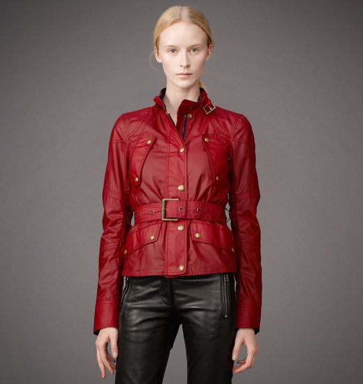 BELSTAFF WOMEN TRACKMASTER JACKET Racing Red