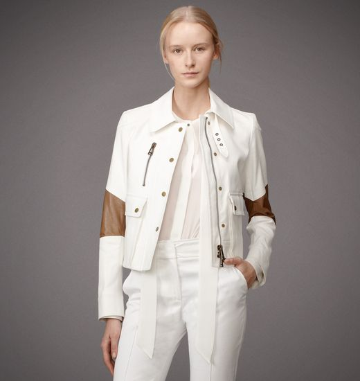 BELSTAFF WOMEN BRAMPTON JACKET White with Mocha