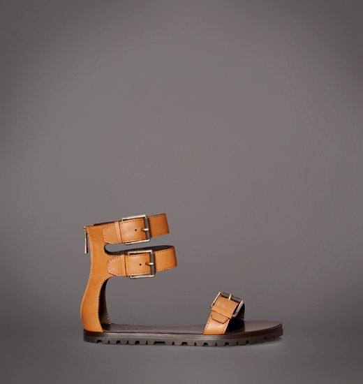 BELSTAFF WOMEN HEATHER 10-10 FLAT SANDAL Dark Goldenrod