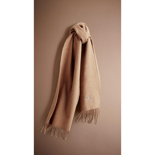 BURBERRY MEN'SHERITAGE CASHMERE SCARF CAMEL
