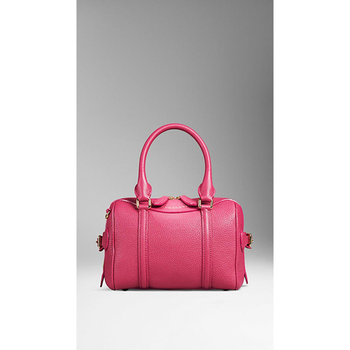 BURBERRY WOMEN'S THE MINI BEE IN GRAINY LEATHER TULIP PINK