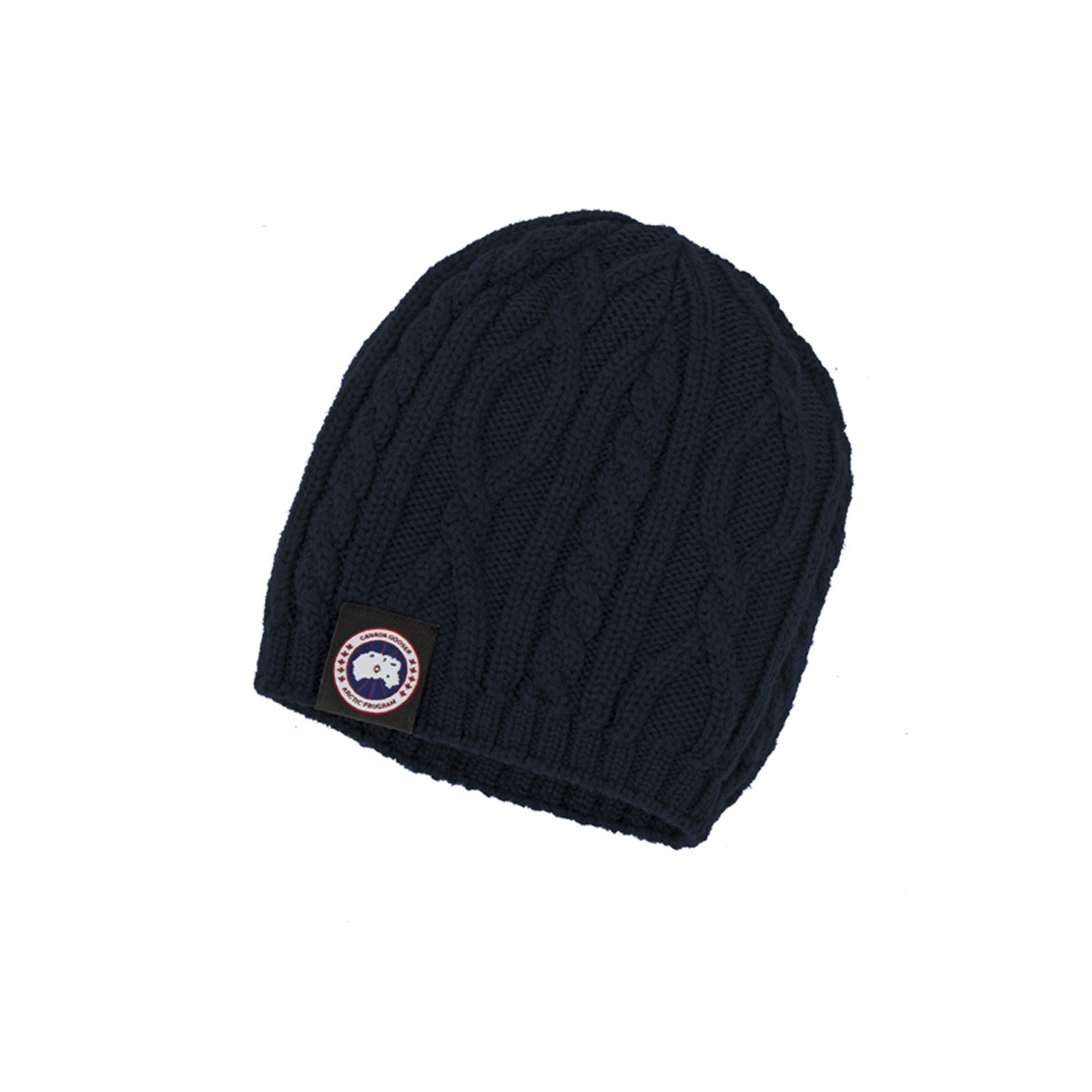 Canada Goose Unisex Merino Cable-Knit Beanie NAVY