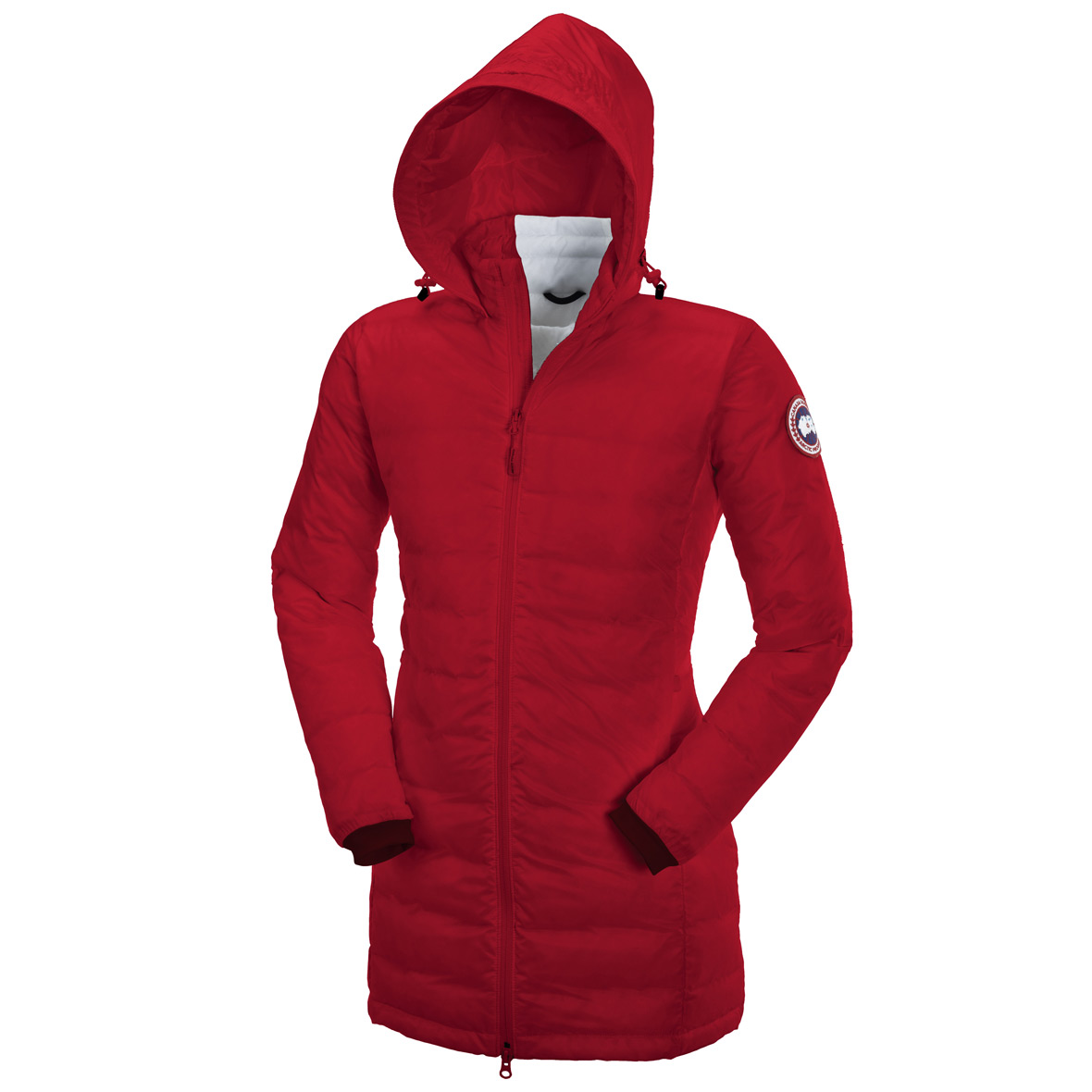 Canada Goose Camp Down Hooded Jacket RED For Women