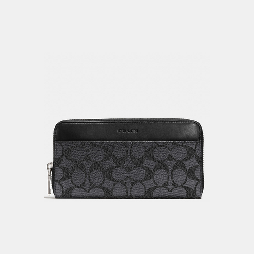 COACH ACCORDION wallet CHARCOAL