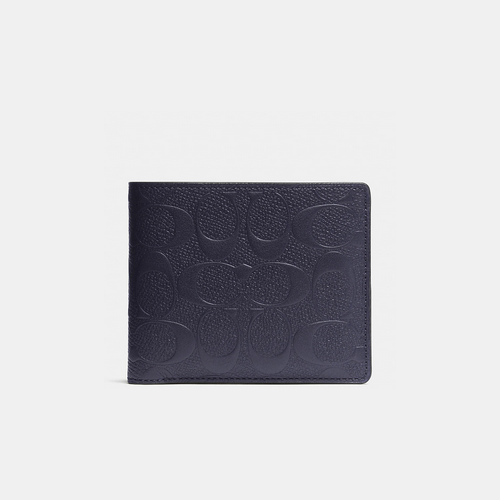 COACH COMPACT id wallet MIDNIGHT