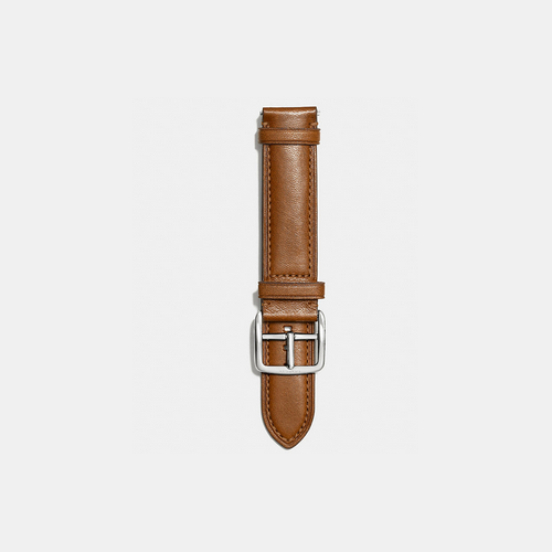 COACH BLEECKER leather watch strap FAWN