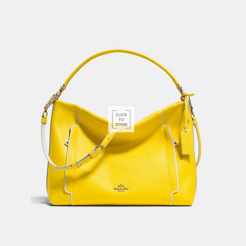COACH SCOUT hobo LIGHT GOLD/YELLOW/CHALK