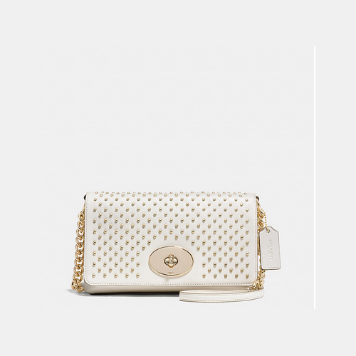 COACH CROSSTOWN crossbody LIGHT GOLD/CHALK
