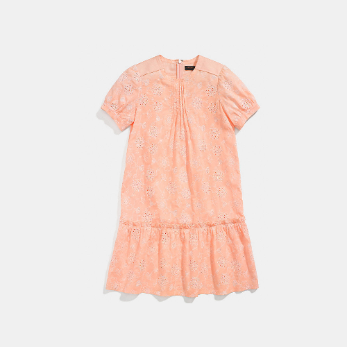 COACH LACE roundneck dress PEACH