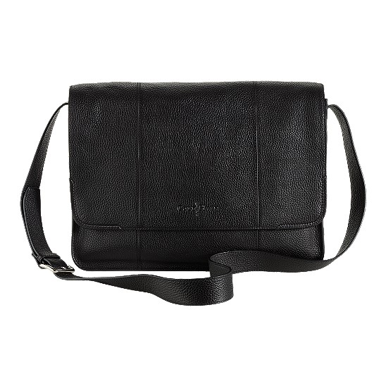 Cole Haan Merced Messenger Black Grain
