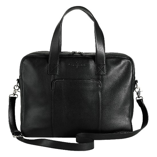 Cole Haan Merced Zip Top Brief Black Grain