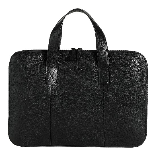 Cole Haan Merced Slim Computer Case Black Grain