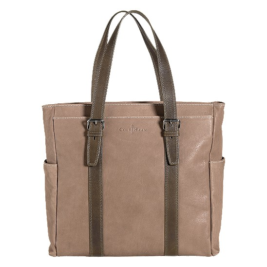 Cole Haan Trovato Zip Top Tote Taupe/Olive