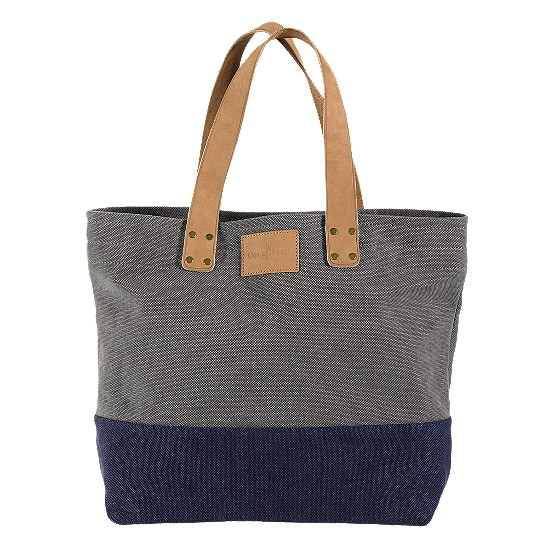Cole Haan Kittery Point Tote Grey/Peacoat Canvas