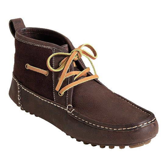 Cole Haan Air Grant Moc Boot Dark Chocolate/Dark Chocolate Canvas