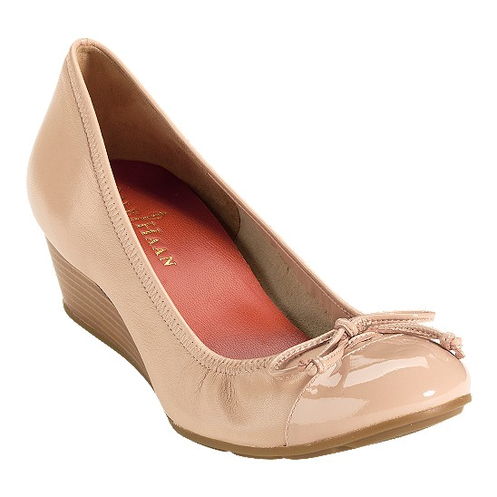 Cole Haan Air Tali Wedge Beige/Beige Patent