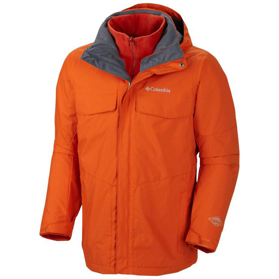 COLUMBIA MENS BUGABOO™ INTERCHANGE JACKET BACKCOUNTRY ORANGE