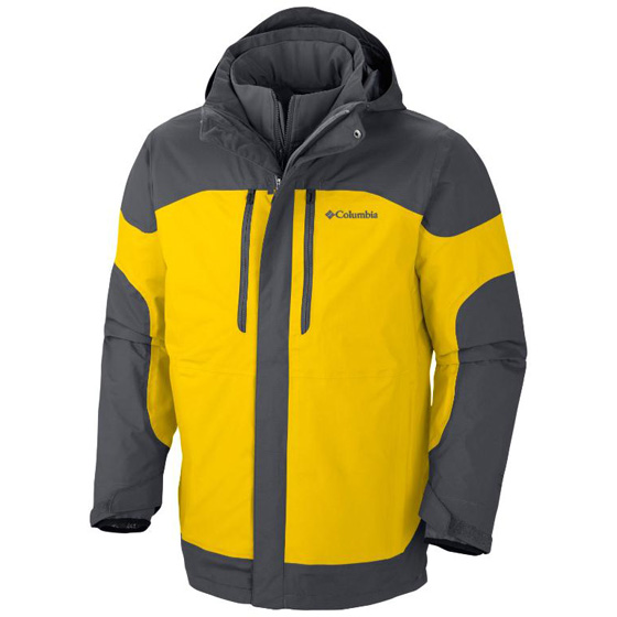 COLUMBIA MENS SUMMIT CREST™ INTERCHANGE JACKET BRIGHT YELLOW
