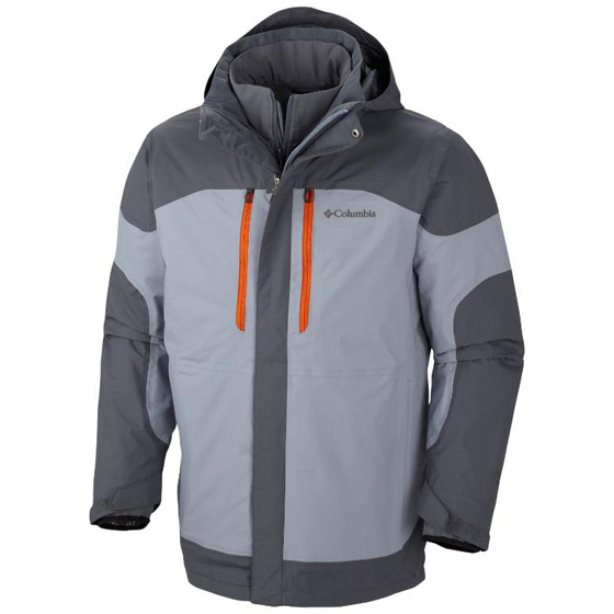 COLUMBIA MENS SUMMIT CREST™ INTERCHANGE JACKET TRADEWINDS GREY