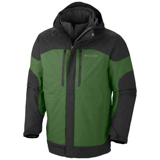 COLUMBIA MENS SUMMIT CREST™ INTERCHANGE JACKET DARK BACKCOUNTRY