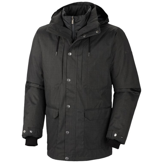 COLUMBIA MENS HORIZONS PINE INTERCHANGE JACKET DARK MOSS