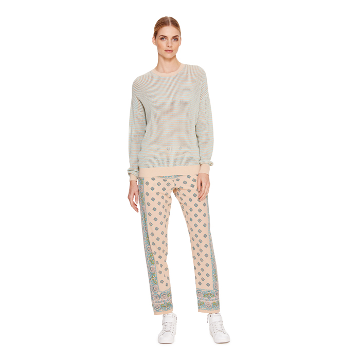 PALE POWDER DKNY PAISLEY PRINT NARROW PANT