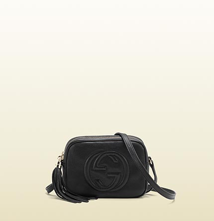 Gucci soho black leather disco bag