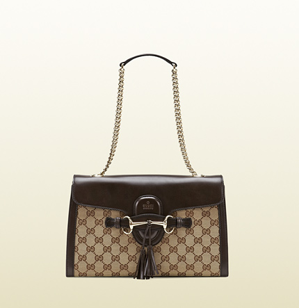 Gucci emily original GG canvas chain shoulder bag