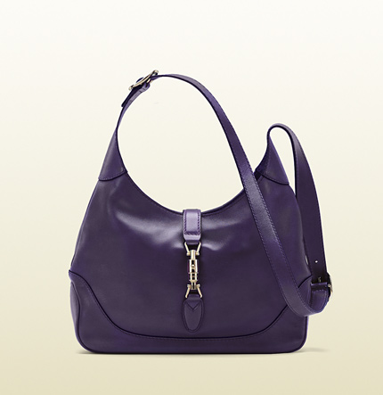 Gucci jackie grape color leather shoulder bag