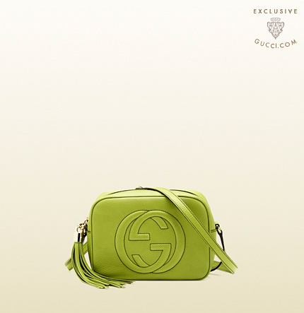 Gucci soho apple green leather disco bag